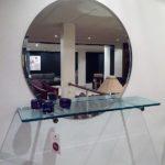 Ronde spiegel D01 met wandplank R11Ghyczy